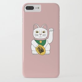 Maneki Neko - lucky cat - pink iPhone Case