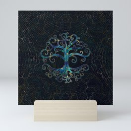 Tree of life Marble and Gold Mini Art Print