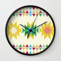 folk Wall Clocks featuring Folk by MihaMiha