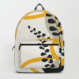 Abstract Yellow Line III Backpack