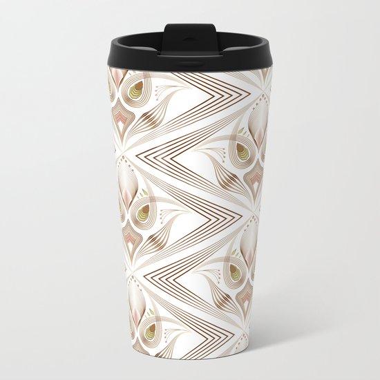 "Art Deco 39. "" Flo  "". Metal Travel Mug"