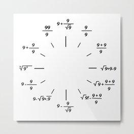 mathematics clock Metal Print