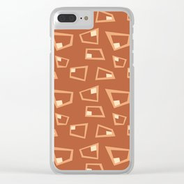 Vintage Abstract Pattern 1 Clear iPhone Case