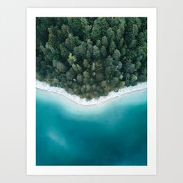 Green and Blue Symmetry - Landscape Photography Art Print