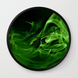 Emerald Swirly Wall Clock