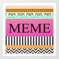 meme Art Prints featuring Meme by Be Raza