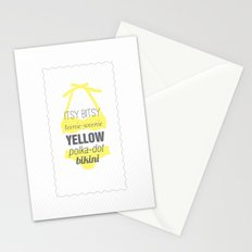 Yellow Polka Dot Bikini Stationery Cards