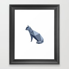Origami Cat Framed Art Print