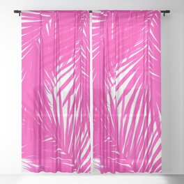 Palms Fuchsia Sheer Curtain