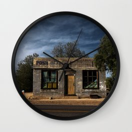 Abandoned Post Office in Kelso California Wall Clock
