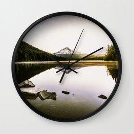 Fantastic Morning - Mount Hood Reflection Wall Clock