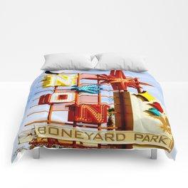 Neon Boneyard Comforters