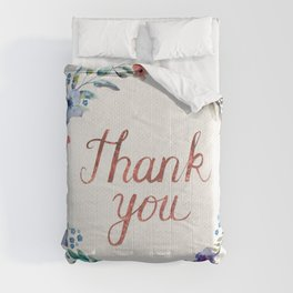 Thank you! Watercolor Flower Wreath Comforters