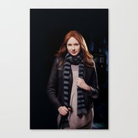 amy pond Canvas Prints featuring Doctor Who's Amy Pond by Sara LD