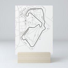 Silverstone Circuit Map Mini Art Print