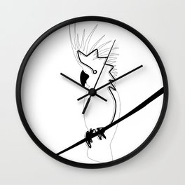 Cockatoo in line Wall Clock