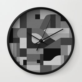 Langley Tex Black and White Wall Clock