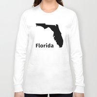 florida Long Sleeve T-shirts featuring Florida by Fabian Bross