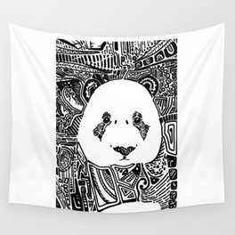 Patterned Panda Wall Tapestry