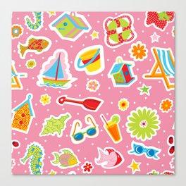 Summer Fun Pink Canvas Print