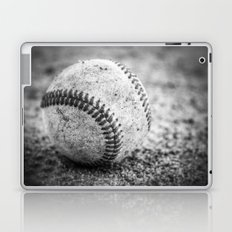 Baseball in Black and White Laptop & iPad Skin
