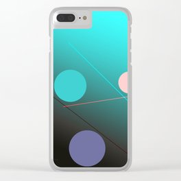 The 3 dots, power game 1 Clear iPhone Case