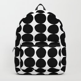 Midcentury Modern Dots Black and White Backpack
