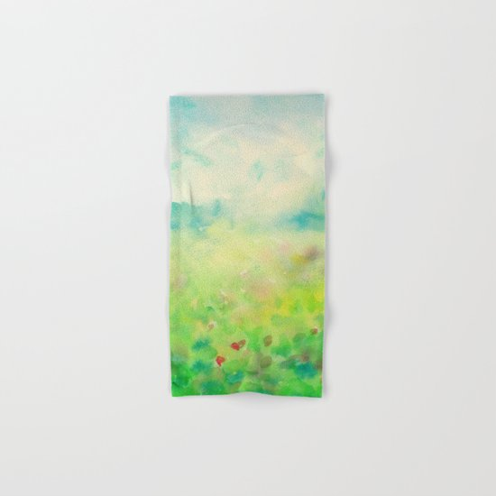 Green & Blue Mystical Spring Hand & Bath Towel