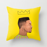 fresh prince Throw Pillows featuring Fresh Prince by Fresh Prints
