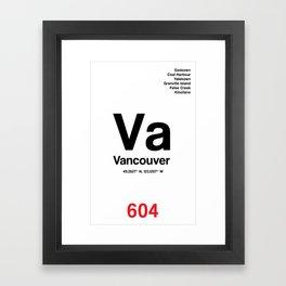 Vancouver City Poster Framed Art Print