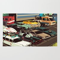 cars Area & Throw Rugs featuring Cars by Dave Collinson