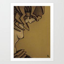 Steampunk Girl A Art Print
