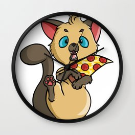 The Pizza Thief Wall Clock