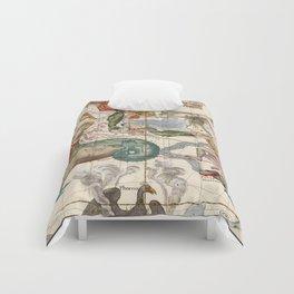 Vintage Constellation Map - Star Atlas Comforters