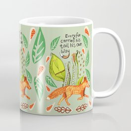 Every Fox...fox, sayings, typography, quote, nature, leaves Coffee Mug