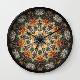 Trichomes Tangerine Wall Clock