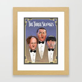The Three Stooges Framed Art Print