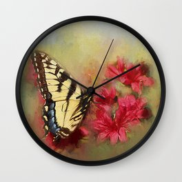 Spring Swallowtail Wall Clock