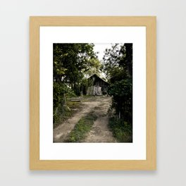 Shed in the Woods Framed Art Print