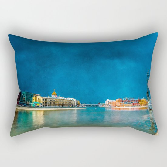 Snow Showers Over Moscow Rectangular Pillow