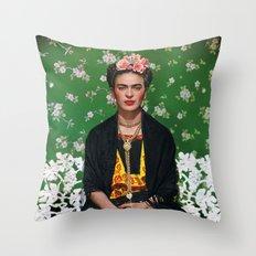 Frida Kahlo Photography I Throw Pillow