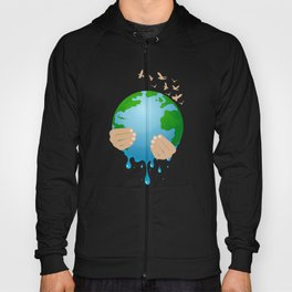 Stop Global Warming Melting Mother Earth Climate Change is Real Hoody