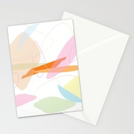 Abstract Pastel Minimal Shape Pattern Stationery Cards