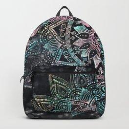 Magical Holographic Mandala Glitter Sparkles Design Backpack