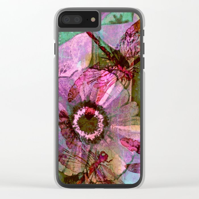 Dragonflies in a Dream Clear iPhone Case