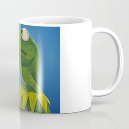 Painted Meme Frog Drinking Tea but it's none of my business Coffee Mug