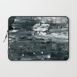 Tear B Black & White Textured Abstract no.1808 Laptop Sleeve
