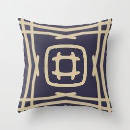 Medallion Eclipse & Soybean Throw Pillow