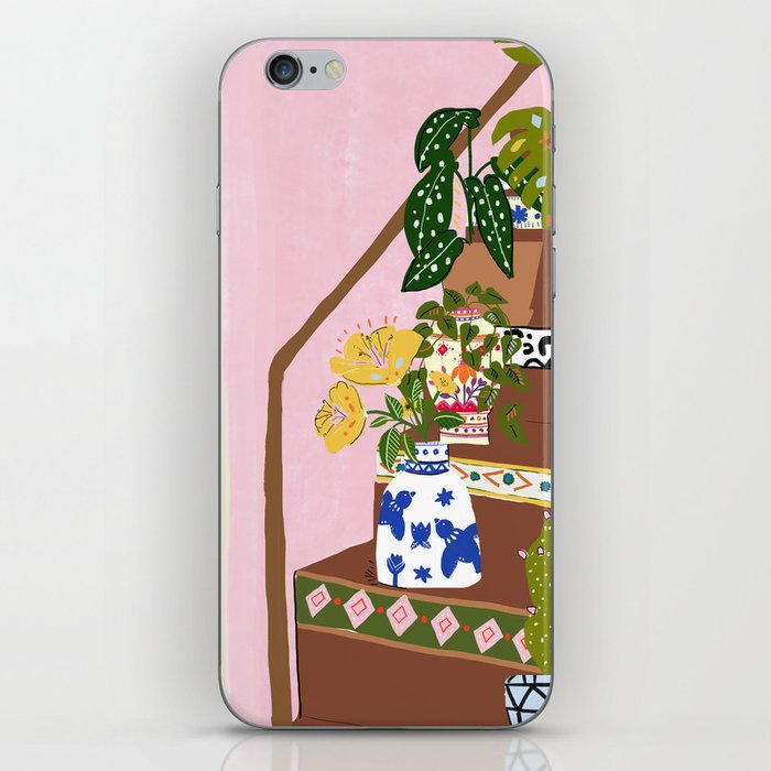 Bohemian stairs iPhone Skin