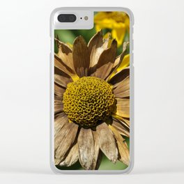 Tan Flower Clear iPhone Case